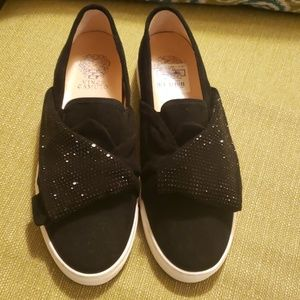 New Vince Camuto Black Suede Loafers